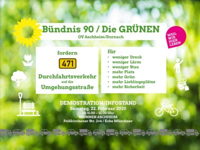 Demo Infostand in Aschheim am Brunnden: B471