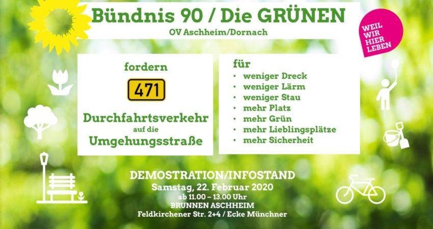 Demo Infostand in Aschheim am Brunnden: B471