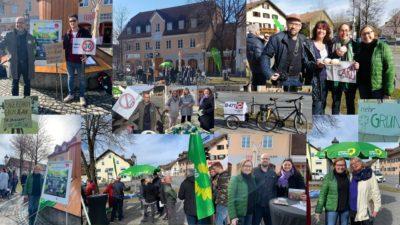 GRÜNE Aschheim/Dornach Demo B471-Durchgangsverkehr auf Umgehungsstraße