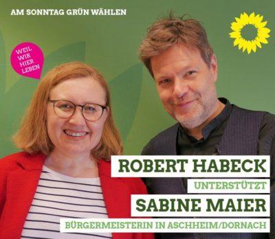 Robert Habeck unterstütz Sabine Maier