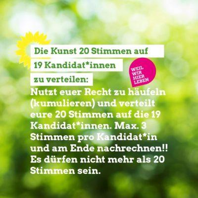 Grüne Aschheim - kumulieren